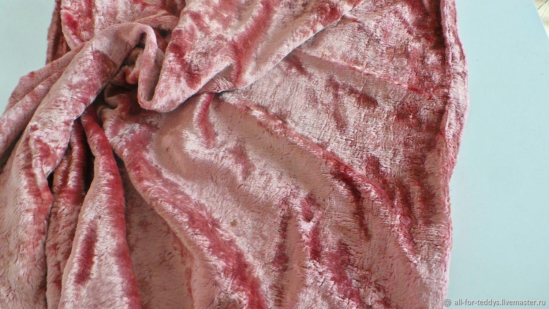 Плюш для Тедди винтажный пыльная роза-2 (50 х 40 см) СССР 1950-60-е, , Санкт-Петербург, Фото №1