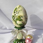 Подарки к праздникам handmade. Livemaster - original item Easter egg lilies of the valley. Handmade.