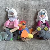 Куклы и игрушки ручной работы. Ярмарка Мастеров - ручная работа Курочка Ряба -фетровая сказка. Handmade.