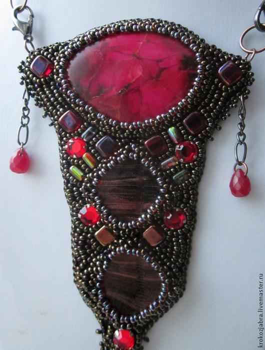 """Кулоны, подвески ручной работы. Ярмарка Мастеров - ручная работа. Купить Кулон """"Сердце Даэдра"""". Handmade. Разноцветный, малиновый, металлик"""
