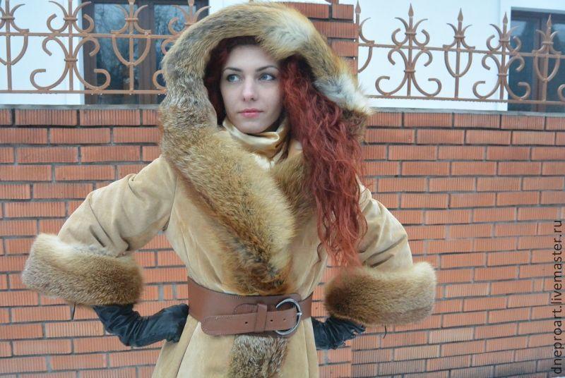 Меховое пальто своими руками фото 137