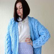 """Одежда ручной работы. Ярмарка Мастеров - ручная работа Кардиган """"Blue"""". Handmade."""