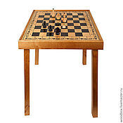 Для дома и интерьера handmade. Livemaster - original item Table games 3 in 1 chess-checkers-backgammon with playing facilities. Handmade.