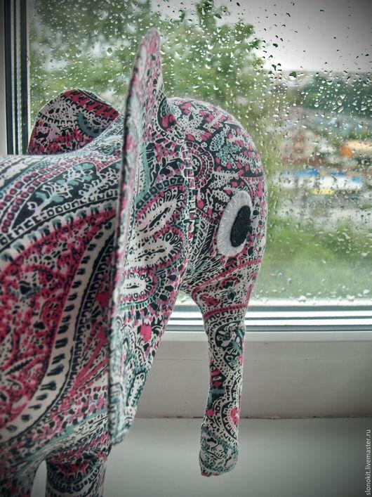 Игрушки животные, ручной работы. Ярмарка Мастеров - ручная работа. Купить Текстильная игрушка подушка слон индийский. Handmade.