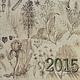 Персональные подарки ручной работы. Заказать Настольный календарь «Лекарственные травы» на 2015 год. Бумага ручной работы. Алла Кузьмина. Ярмарка Мастеров.