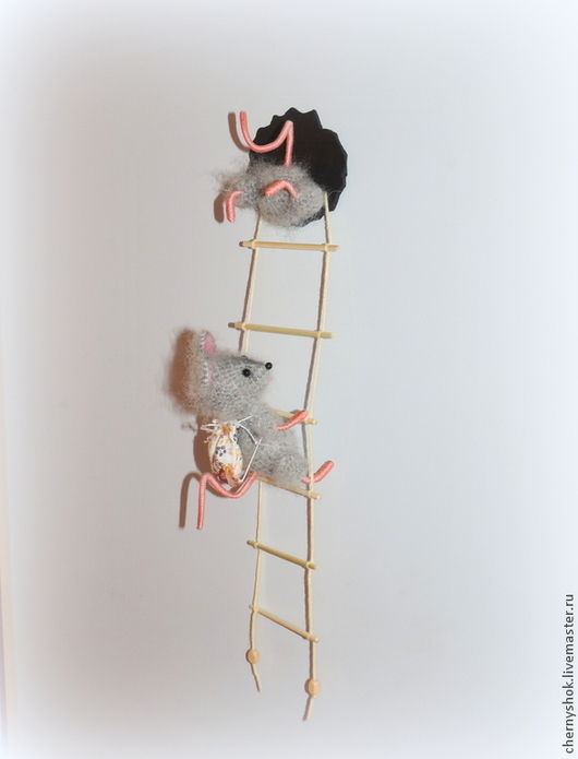 Игрушки животные, ручной работы. Ярмарка Мастеров - ручная работа. Купить Пока кот Васька спит, или мышки-воришки. Handmade.