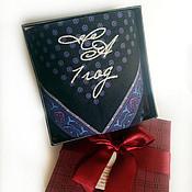Подарки к праздникам handmade. Livemaster - original item Handkerchief men`s Luxury. monogram. wedding anniversary. Handmade.