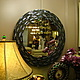 Зеркала ручной работы. Зеркало в мозаичной раме, синяя ночь 2. Александр (worldmosaic). Интернет-магазин Ярмарка Мастеров.
