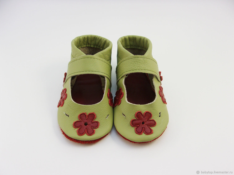 626a4b085 Детская обувь ручной работы. Ярмарка Мастеров - ручная работа. Купить  Кожаные сандалии, пинетки ...