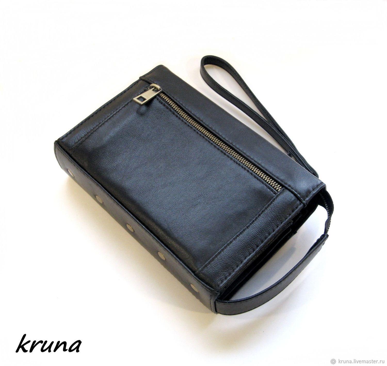 1167c80d1d0e Купить Мужская мини-сумка Мужские сумки ручной работы. Мужская мини-сумка  органайзер-клатч-кошелек из натуральной ...