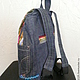Джинсовый бохо- рюкзак , сумки и рюкзаки ручной работы, автор Zhanna Petrakova Atelier Moscow
