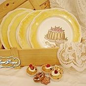 """Посуда ручной работы. Ярмарка Мастеров - ручная работа Набор десертных тарелок """"Ваниль"""". Handmade."""