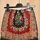 Павлопосадский платок, шортики   тонкая шерсть,  низ на манжете, присборен, на рост110-116, цена 1500 руб.