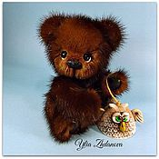Куклы и игрушки ручной работы. Ярмарка Мастеров - ручная работа Норковый Мишка тедди Павлуня.. Handmade.