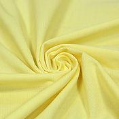 Материалы для творчества ручной работы. Ярмарка Мастеров - ручная работа Вельвет в мелкий рубчик лимонный ELENA MIRO. Handmade.