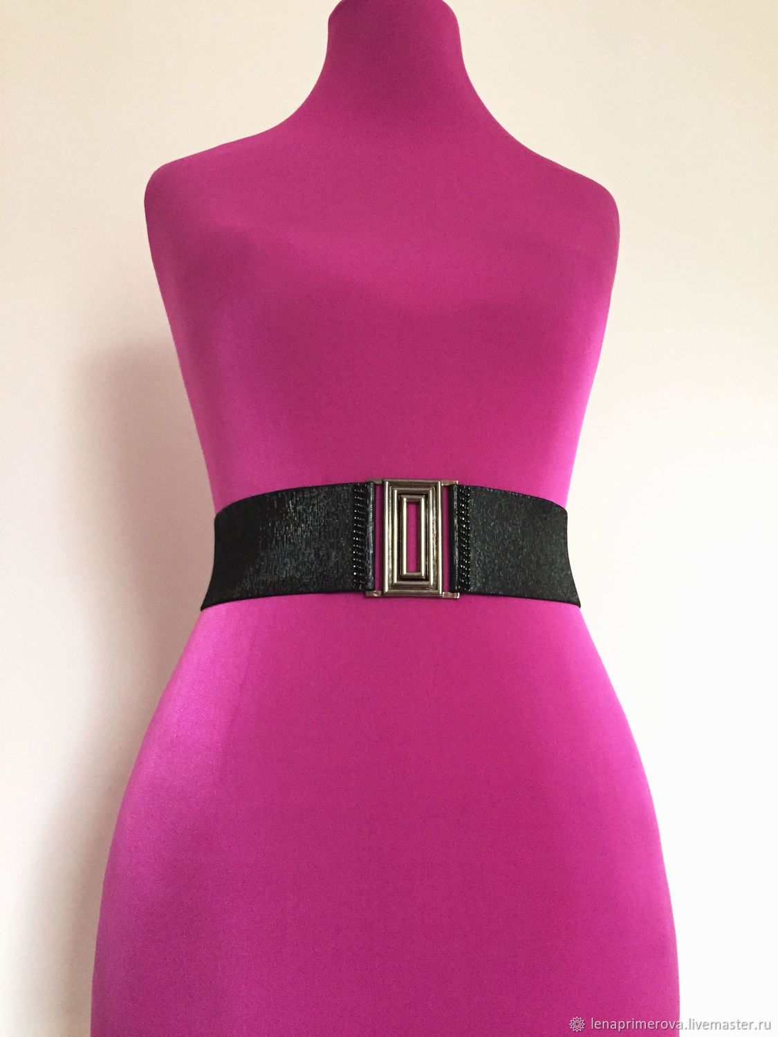 belt-elastic band gloss Black 60mm, and the height and other buckles, Belt, Moscow,  Фото №1