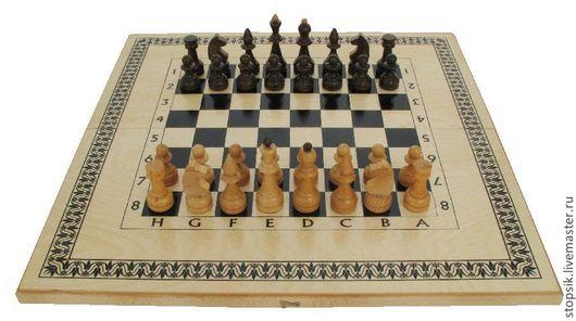 Настольные игры ручной работы. Ярмарка Мастеров - ручная работа. Купить Шахматы, нарды, шашки Водолей (бук) 6381. Handmade.
