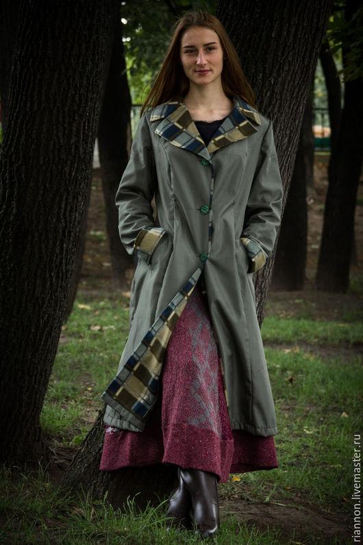 Верхняя одежда ручной работы. Ярмарка Мастеров - ручная работа. Купить Плащ Английский парк. Handmade. Хаки, плащ на осень