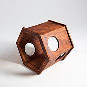 Для домашних животных, handmade. Livemaster - original item House-pedestal Base Brown. Handmade.