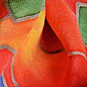 Аксессуары ручной работы. Ярмарка Мастеров - ручная работа Шелковый шарф батик.Спирали Хундертвассера. Шарф шелковый. Handmade.