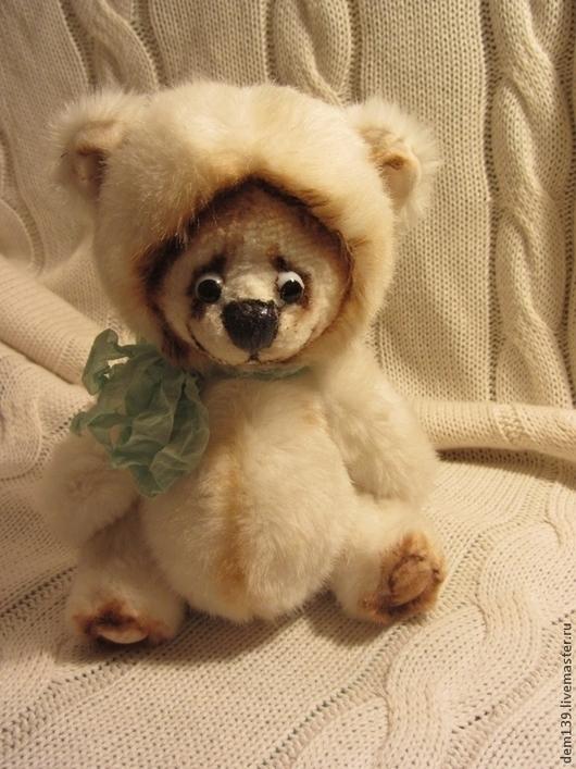 Мишки Тедди ручной работы. Ярмарка Мастеров - ручная работа. Купить Кузя. Handmade. Белый, медвежонок, мех искусственный