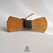 Аксессуары handmade. Livemaster - original item Wooden butterfly tie jazz oak / bow tie. Handmade.