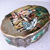 """Для дома и интерьера ручной работы. Ярмарка Мастеров - ручная работа Шкатулка """" За шахматами"""". Handmade."""