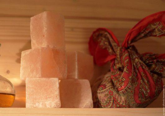 """Массажные плитки ручной работы. Ярмарка Мастеров - ручная работа. Купить Гималайская соль брусовая """"солевое мыло"""" для лица и тела. Handmade."""