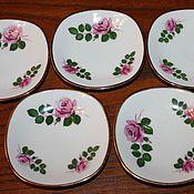 handmade. Livemaster - original item Five porcelain rosettes, Rheinpfaltz SC, Germany. Handmade.
