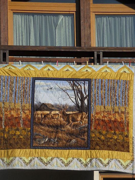 Текстиль, ковры ручной работы. Ярмарка Мастеров - ручная работа. Купить Лоскутное одеяло плед Тихие Альпы. Handmade. Одеяло