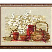"""Схемы для вышивки ручной работы. Ярмарка Мастеров - ручная работа Набор для вышивания: """"Чай"""" от Риолис. Handmade."""