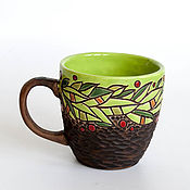 """Посуда ручной работы. Ярмарка Мастеров - ручная работа Чашка """"Весенняя листва"""". Handmade."""