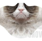 Одежда ручной работы. Ярмарка Мастеров - ручная работа Ветрозащитная маска Грустный кот. Handmade.