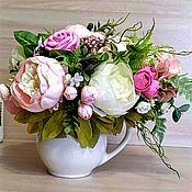 Композиции ручной работы. Ярмарка Мастеров - ручная работа Композиции: цветочная композиция для домашнего интерьера в керамическо. Handmade.