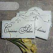 """Для дома и интерьера ручной работы. Ярмарка Мастеров - ручная работа таблички на заказ """"Черно-белый винтаж"""". Handmade."""