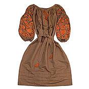 """Одежда handmade. Livemaster - original item Длинное коричневое платье """"Чудо -Дерево"""". Handmade."""