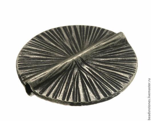 Для украшений ручной работы. Ярмарка Мастеров - ручная работа. Купить Бусина диск (серебро)- КВ411. Handmade. Серебряный