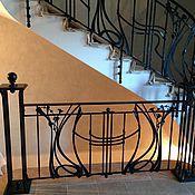 Для дома и интерьера ручной работы. Ярмарка Мастеров - ручная работа Кованая лестница,ограждения. Handmade.