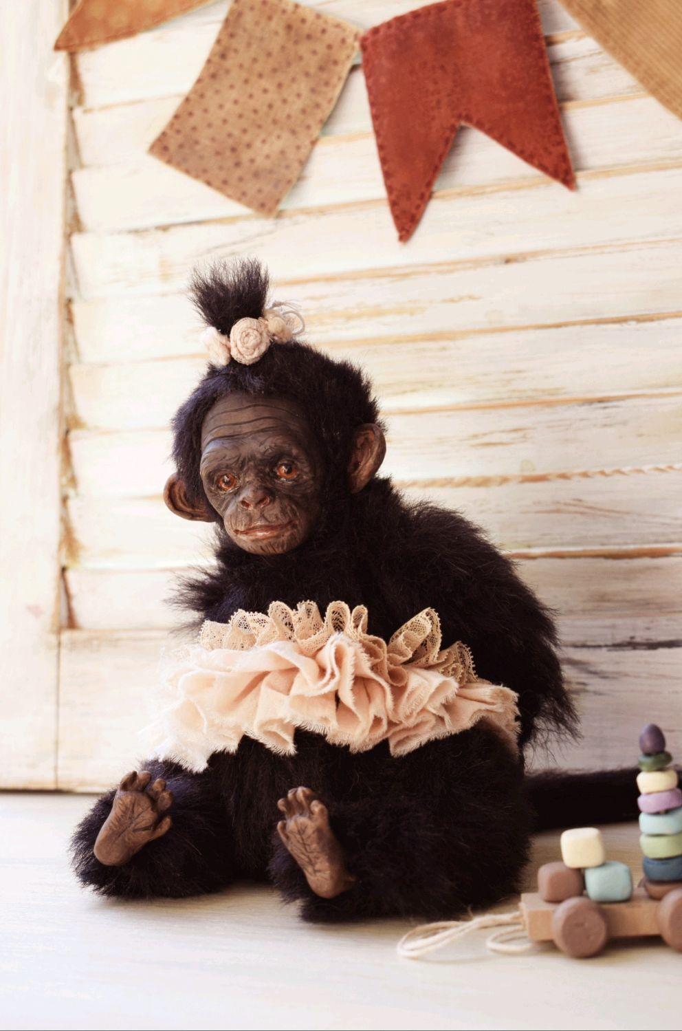 Тедди обезьянка  Рита, Тедди Зверята, Нижний Новгород,  Фото №1