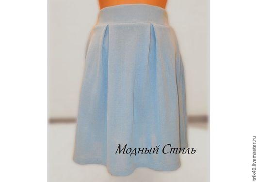 """Юбки ручной работы. Ярмарка Мастеров - ручная работа. Купить Юбка """"Лора"""". Handmade. Голубой, юбка для девочки, хлопок мерсеризованный"""