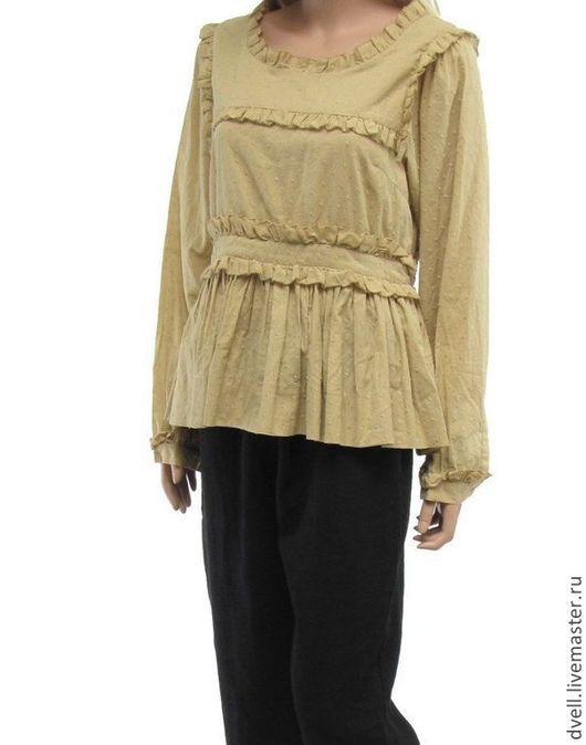 Блузки ручной работы. Ярмарка Мастеров - ручная работа. Купить Блуза бохо  , романтика стиля. из сундука странствий. Handmade. Бежевый