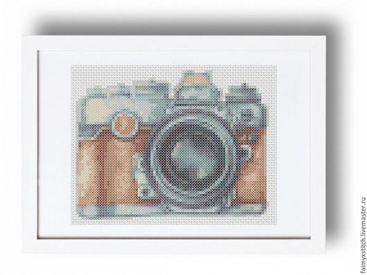 """Вышивка ручной работы. Ярмарка Мастеров - ручная работа. Купить Схема для вышивки крестом """"Фотоаппарат"""". Handmade. Схема для вышивки"""