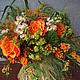 Букет из живых цветов Разнотравье