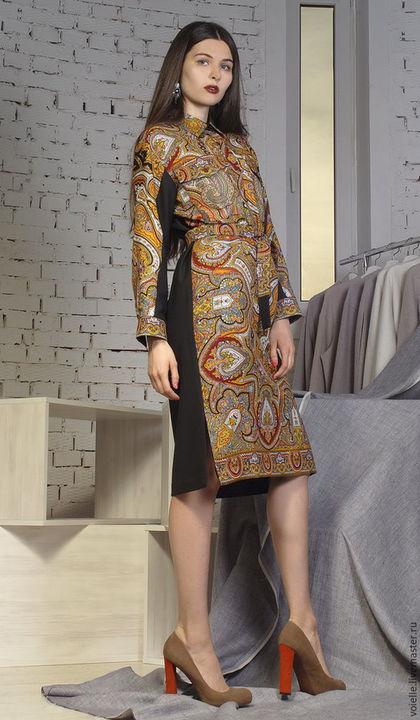 платья из павлопосадских платков фото