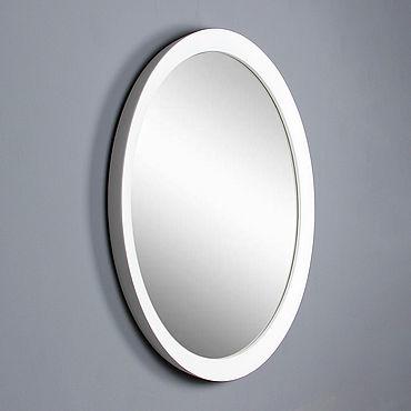 Для дома и интерьера ручной работы. Ярмарка Мастеров - ручная работа Зеркало круглое Палермо, зеркало в белой раме, зеркало круглое в раме. Handmade.