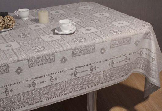 Текстиль, ковры ручной работы. Ярмарка Мастеров - ручная работа. Купить Скатерть льняная на стол.. Handmade. Серый, скатерть на стол