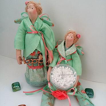 Для дома и интерьера ручной работы. Ярмарка Мастеров - ручная работа Фея тильда хранительница ватных палочек, украшение ванной комнаты. Handmade.