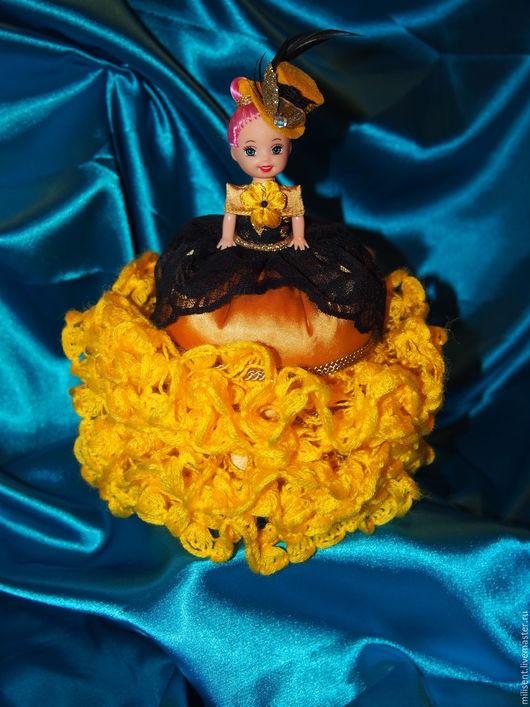 Шкатулки ручной работы. Ярмарка Мастеров - ручная работа. Купить Кукла-шкатулка. Handmade. Желтый, шкатулка, подарок женщине, пряжа