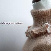 Одежда ручной работы. Ярмарка Мастеров - ручная работа Свитер (мохер, хлопок). Оттенок пудрово-розовый. Handmade.