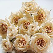 Свадебный салон ручной работы. Ярмарка Мастеров - ручная работа Шпильки с розами цвета айвори. Handmade.